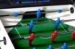 Всепогодный настольный футбол (кикер) «Storm F-3 family outdoor» (138x76x88 см, жетоноприемник) с защитным корпусом