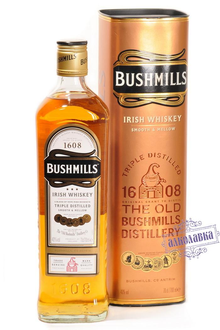 Виски Бушмиллс Оригинальный  п/у 0,7л 40%