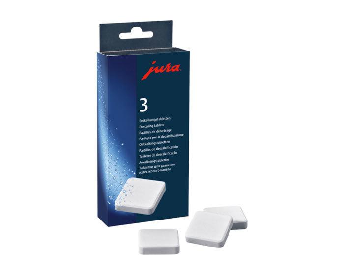 цена таблетки для удаления известковых отложений солей от компании JURA 9 штук