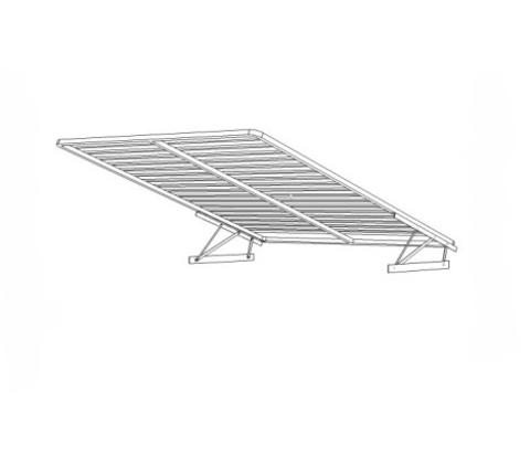 Кровать Ненси 140х200 с подъемным механизмом Горизонт белый глянец
