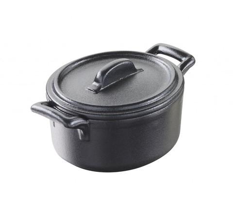 Овальная фарфоровая кокотница  с крышкой, черная, артикул 644688, серия Belle Cuisine