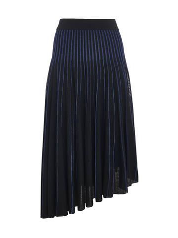 Женская юбка асимметричного кроя черного цвета из вискозы - фото 1