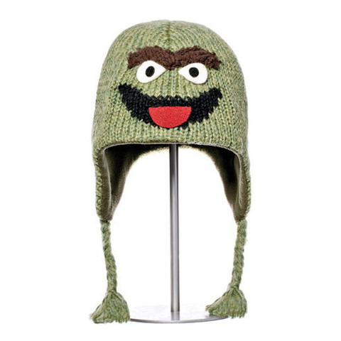 Картинка шапка с ушами Knitwits Oscar the Grouch  - 1