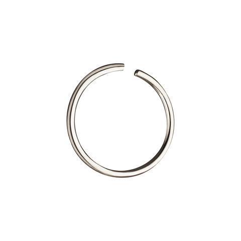 Кольцо для пирсинга в нос 10 мм (белое золото)