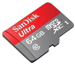 Карта памяти SanDisk microSDXC 64 Gb UHS-I Ultra Class10 (80MB)