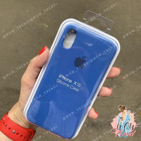 Чехол iPhone X/XS Silicone Case /delft blue/ голландский синий original quality