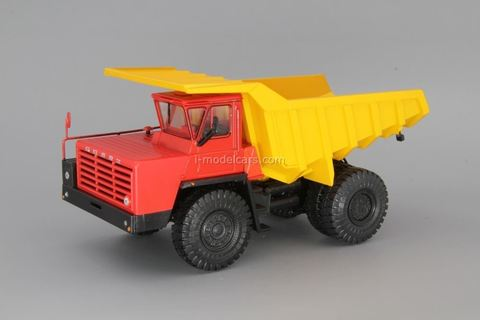 BELAZ-540A dump truck red-yellow 1:43 Nash Avtoprom