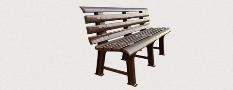 Пластиковая скамья полимерная коричневая