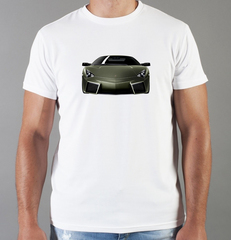 Футболка с принтом Ламборджини, Ламборгини (Lamborghini) белая 004