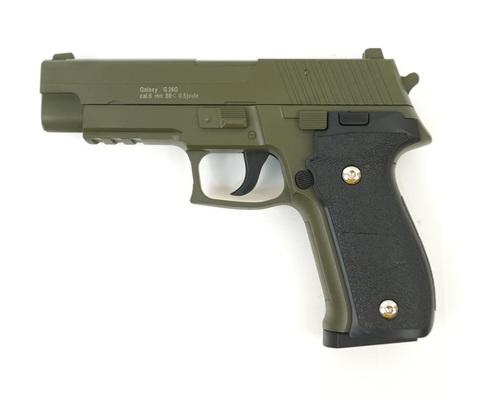 Страйкбольный пистолет Galaxy G.26G SIG226 металлический, пружинный