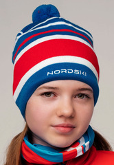 Шапка Nordski Bright Blue RUS