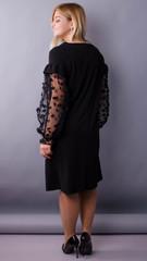 Виталина. Праздничное платье больших размеров. Черный.