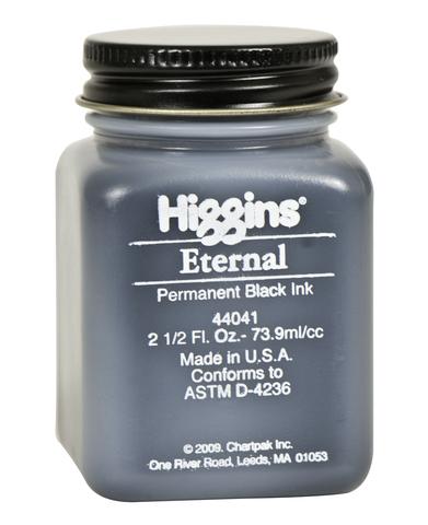 Чернила HIGGINS ETERNAL BLACK INK, 2.5 OZ, 73,9 мл