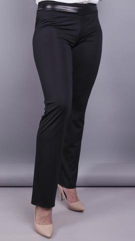 Ніккі. Жіночі брюки великих розмірів утеплені. Чорний.