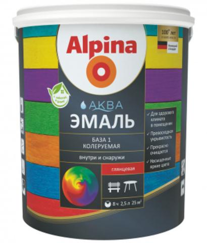 Alpina/Альпина Аква Эмаль на водной основе универсальная