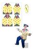 Скоморох в персиках рубаха (комплект для пошива)