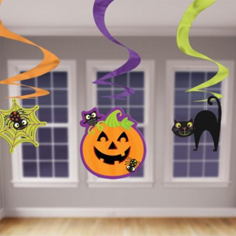 Спираль веселый Halloween 3шт