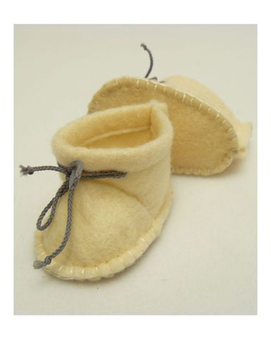 Ботиночки из фетра - Кремовый. Одежда для кукол, пупсов и мягких игрушек.