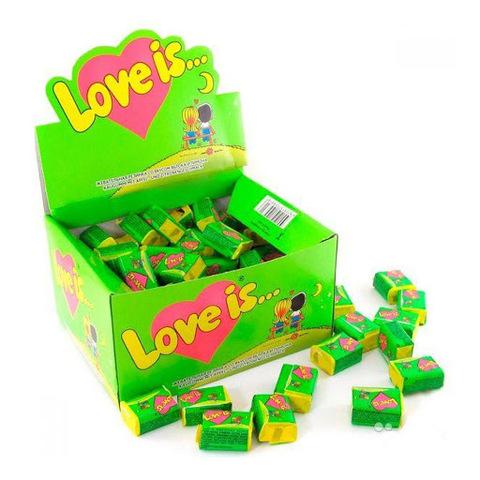 Жевательная резинка Love is… яблоко-лимон 100х4.2 гр
