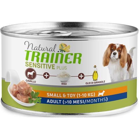 Влажный корм для собак TRAINER Natural, при чувствительном пищеварении, конина, с рисом (для мелких и карликовых пород)