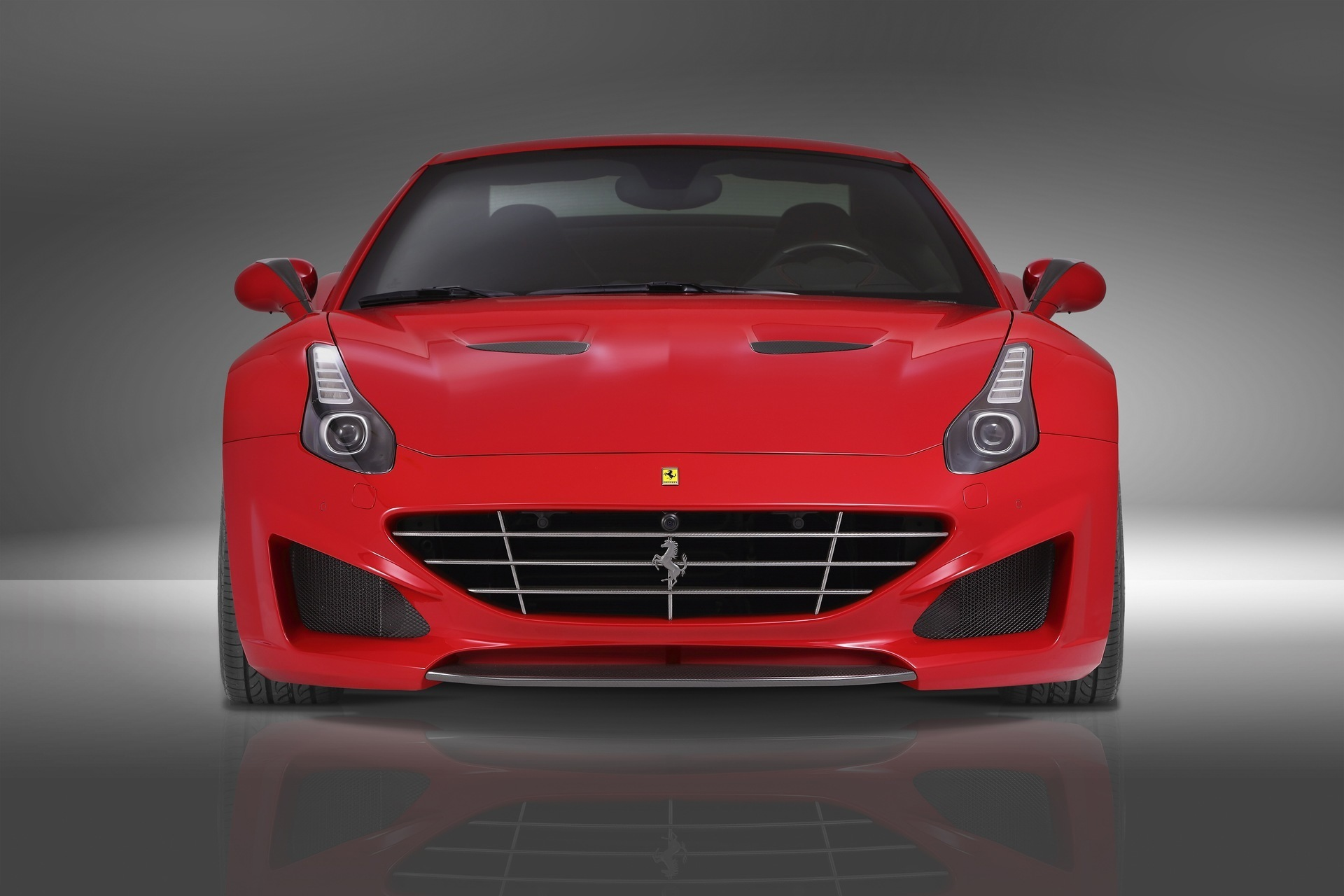 Карбоновые вставки в воздухозаборники капота Novitec Style для Ferrari California