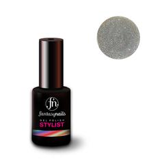 Fantasy Nails Stylist, Гель-лак № 034 Gleamy Silver, 8 мл