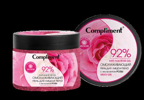 Compliment Омолаживающий гель для лица и тела с экстрактом розы