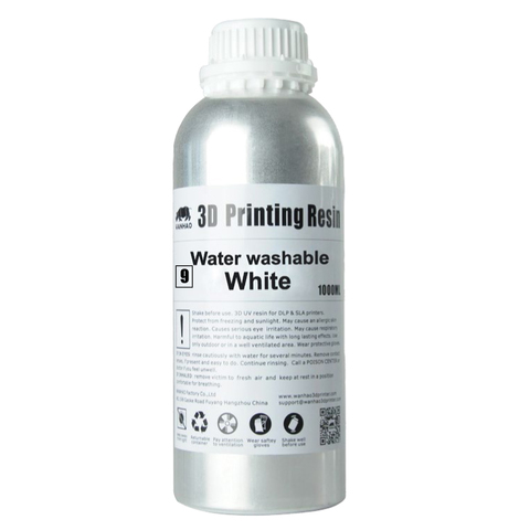 Фотополимер Wanhao Water washable, белый (1 л)