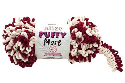 Купить Пряжа Пуффи Море цвет 6271 бордовый-телесный | Интернет-магазин пряжи «Пряха»
