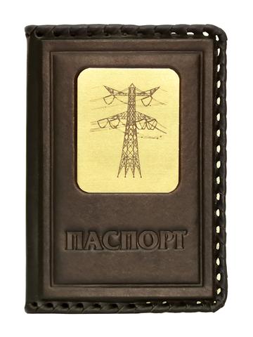Обложка на паспорт | Энергетику | Коричневый