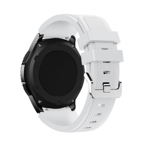 Силиконовый ремешок для Samsung Gear S3/Galaxy Watch 46 Fohuas Silicon Band 22мм (белый)