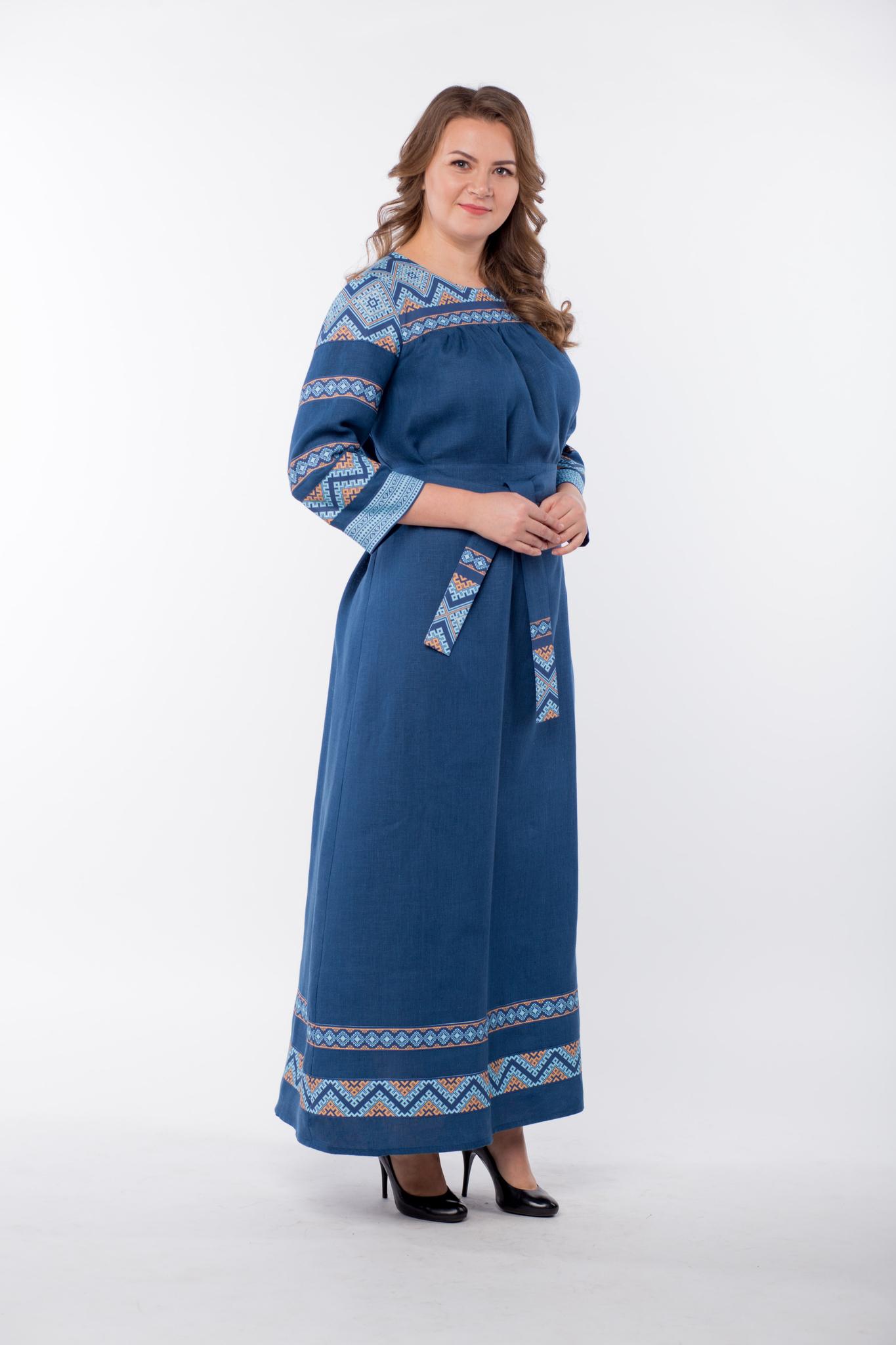 Платье льняное Каспийское купить