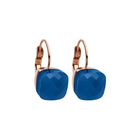 Серьги Firenze dark blue opal 304128 BL/RG