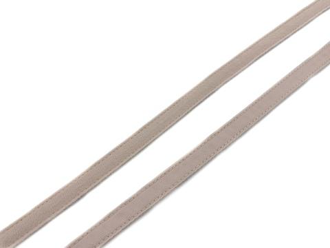 Ворсовая тесьма для корсетных пластин серебристый пион (цв. 168) 50 метров