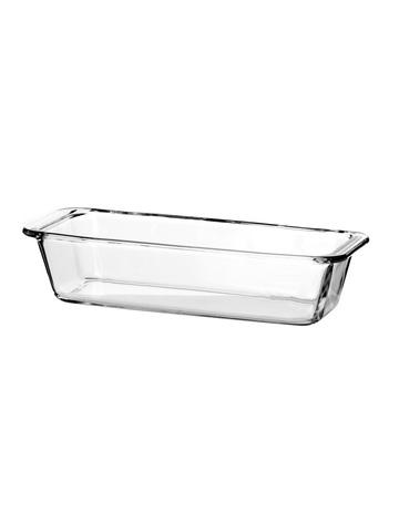 Форма для выпечки кекса жаропрочная стеклянная прямоугольная 1,6 литра Borcam 59104 лоток прямоугольный 31х12х7 см под.коробка