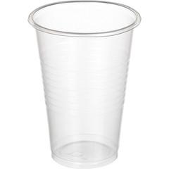 Стакан одноразовый Бюджет пластиковый прозрачный 200 мл 100 штук в упаковке