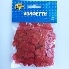 Конфетти тишью, Круги Красные, 1,5см, / 10гр. /