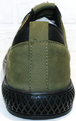 Молодежные мужские туфли кеды на осень Luciano Bellini C2801 Nb Khaki.