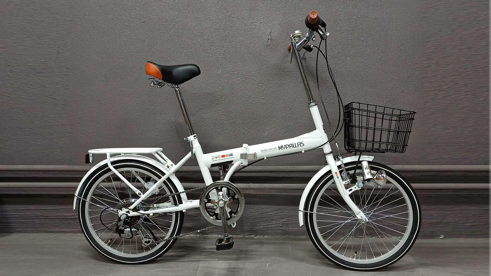 складной велосипед взрослый MyPallas M246 белый