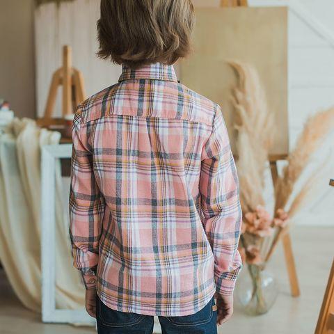 Check shirt for teens - Rose Quartz