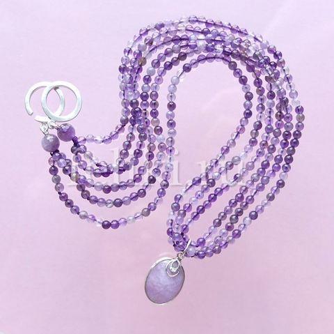 ожерелье аметистовое