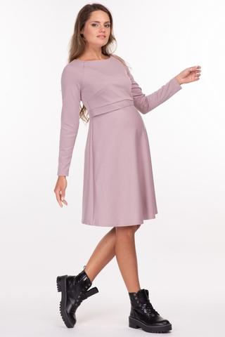 Платье для беременных и кормящих 11749 пудра