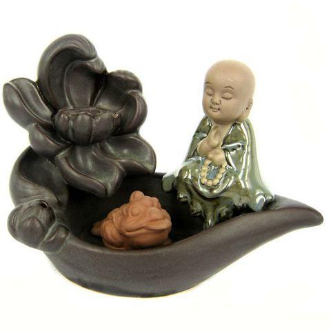 Комплект подставка благовония Будда 13*5 см + Palo Santo, стелющийся дым