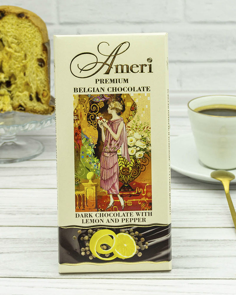 Горький Шоколад с Лимоном и Черным Перцем Ameri 100 гр.