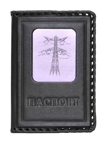 Обложка на паспорт «Энергетику». Цвет черный