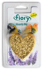 Био-камень для птиц FIORY Hearty Big с лавандой в форме сердца