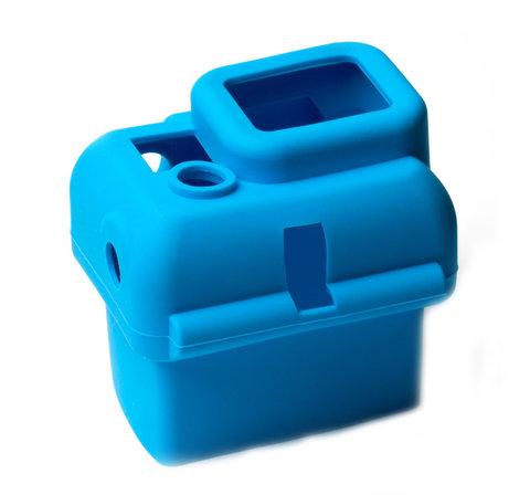 Силиконовый чехол для бокса GoPro 3+/4 (Голубой)