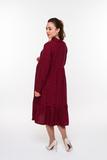 Платье для беременных 09845 бордовый