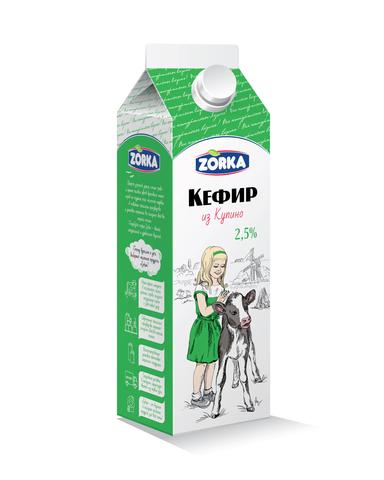 """Кефир """"Купино"""" 2,5%  900мл"""
