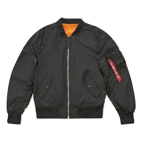 Бомбер Alpha Industries L-2B Scout Black/Emergency Orange (Черный/Оранжевый)